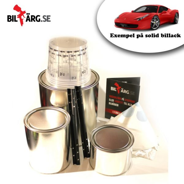 Billack solid lackpaket