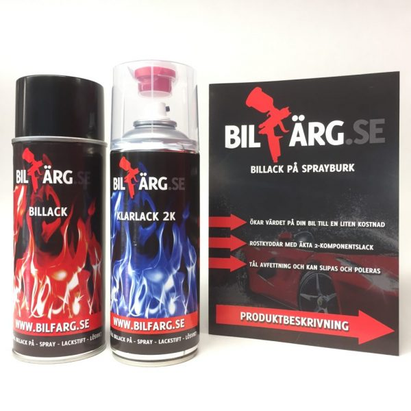Billack på sprayburk kit 2k för metallic & alla lacker