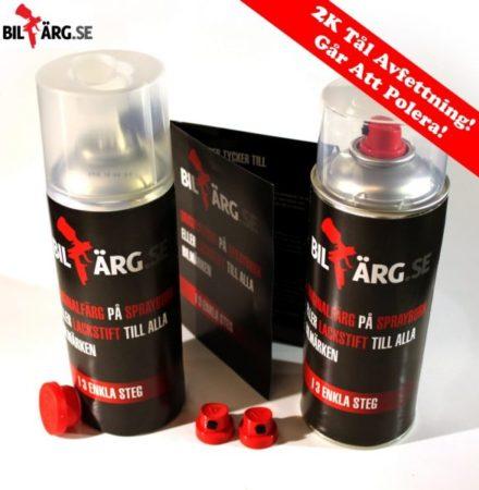 Billack på sprayburk kit 2k för metallic & alla lacker