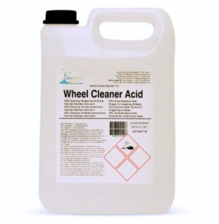 Fälgrengöring syrabaserad Blue and green Wheel cleaner acid 5L