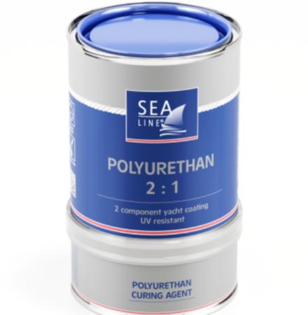 Båtfärg vit polyurethan 2 komponent 750ML
