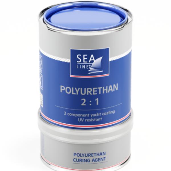 Båtfärg blå polyurethan 2 komponent 750ML