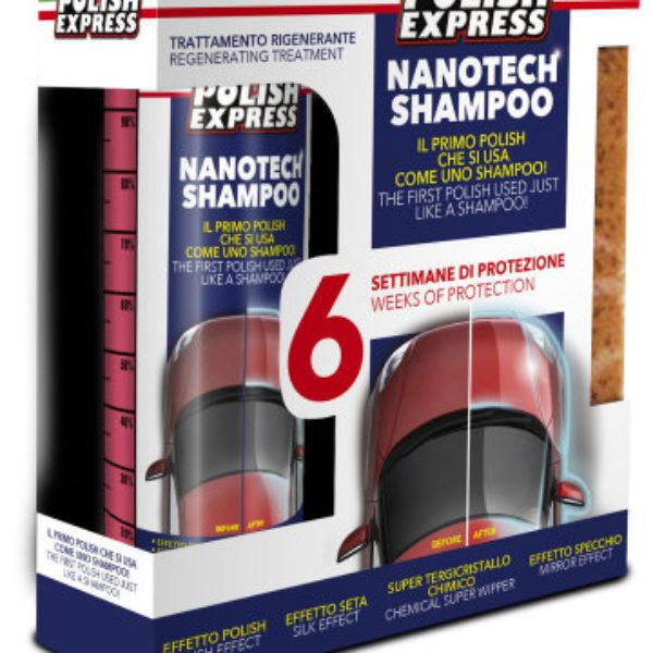 Polish Express Shampoo kit inkl tvättsvamp 250ML