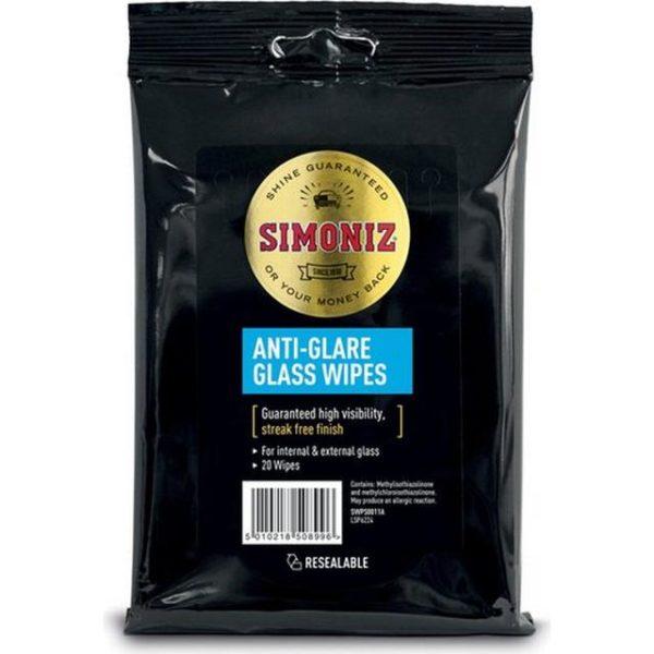 Simoniz anti-glare glass wipes